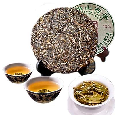 Thé Pu'er chinois 357g ?0,788LB) Thé cru Puer Thé vert Brown Mountain Ancien thé Banzhang Green Cake Tea Vieux thé Pu-erh Vieux arbres Pu erh tea Soins de santé Pu er tea
