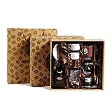 FYHKF Vakuum-Kaffeebereiter Siphon Kaffeemaschine Set Coffee Siphon Technia Siphon Topf Geschenkbox Kaffeemaschine Geschenkbox, 3 Tassen