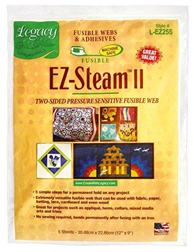 """Preisvergleich Produktbild Bügelvlies """"EZ Steam II"""" 5 Bögen ca. 30,5x22,9cm beidseitig waschmaschinenbeständig trocknerbeständig mit Druckraster Stoffe leicht Bügeleinlage Klebeeinlage"""