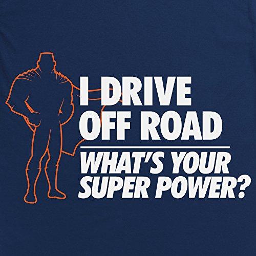 Off Road Superpower T-Shirt, Damen Dunkelblau