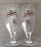 2 x San Miguel Half Pint Gläser