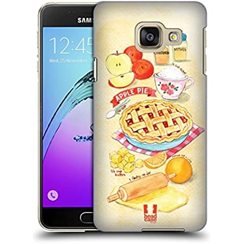 Head Case Designs Torta Di Mele Ricette Illustrate Cover Retro Rigida per Samsung Galaxy A3 (2016)