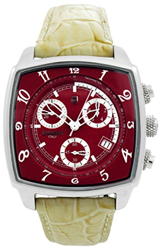 Lancaster 0262RWE - Orologio da polso da uomo, cinturino in pelle colore bianco