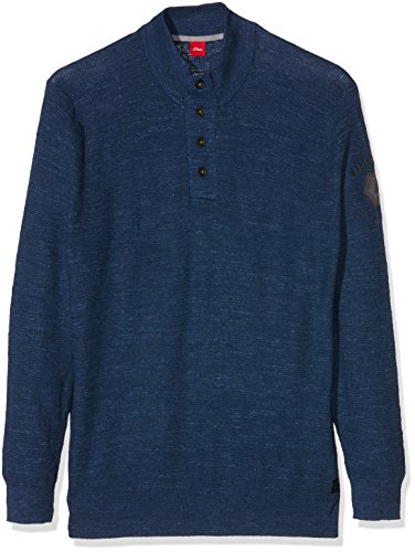 s.Oliver Big Size Herren Pullover Langarm, Blau (Medieval 58w0, Blau), XXX-Large
