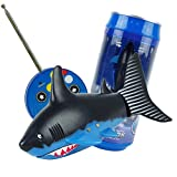 ARTSTORE RC Remote Control Mini Fish,Rechargeable Robo Shark Swim in Water Kids Bath Toys,Blue and Black,Blue