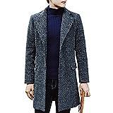 Lemumu Men's Casual/Täglich einfache CoatSolid Hemdkragen Langarm Herbst/Winter Blau/Rot/Grau Polyester Medium 916524,3 XL, Blau
