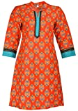 Odhani Women's Cotton Straight Kurta (SM...