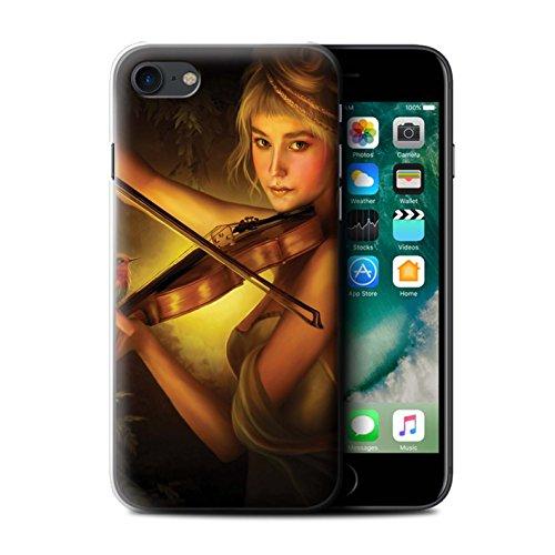 Officiel Elena Dudina Coque / Etui pour Apple iPhone 7 / Beauté/Violon Design / Réconfort Musique Collection Beauté/Violon