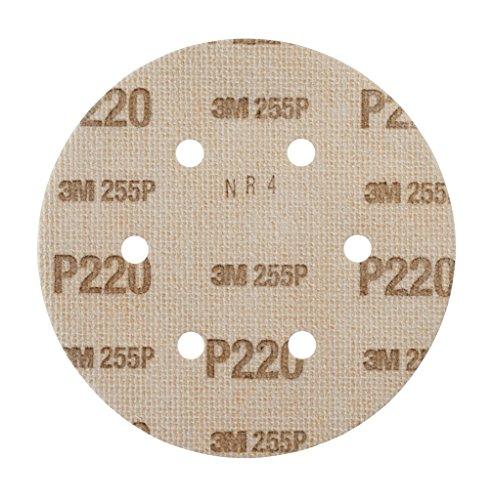3M Hookit Kletthaftende Scheibe 255P, 150 mm, P220, LD600A, 100 Stück/Karton