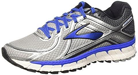 Brooks Men Adrenaline Gts 16 Running Shoes, Black (Silver/Electricbrooksblue/Black), 9