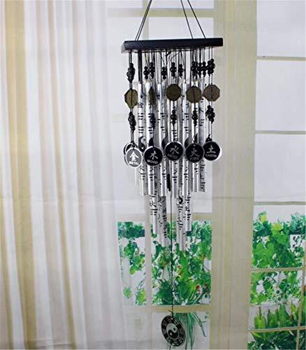 youjiu Decoration Décorations Deco Decoratif Carillon Éolien en Métal À Suspendre 28 Tubes en Alliage Carillon Éolien