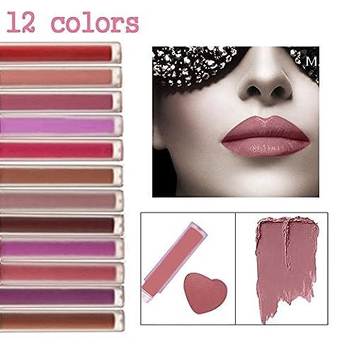 CINEEN Matt lippenstift Set 12 Farben Liquid Lipstick Wasserdicht Langanhaltend Nicht Verblassen Lipgloss