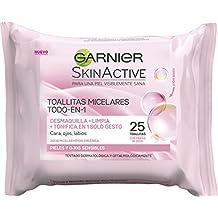 Garnier Skinactive - Toallitas Desmaquillantes Todo-en-1, 25 Toallitas