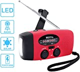 BESTVA Solar Radio Hand Crank Self Powered AM/FM/WB Weather Radio Dynamo Emergency LED Flashlight With Phone Charger Power Bank