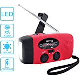 Radio Solaire Portable BESTVA Dynamo Radio AM / FM / WB Météo Radio Lampe de Poche LED Chargeur de Téléphone Appareil d'Urgence Merilleur pour Randonnée Camping