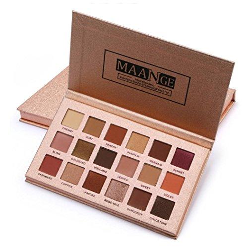Fulltime 18 couleur scintillement paillettes Eye Shadow poudre Matt fard à paupières maquillage cosmétique