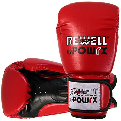 Rewell by Powrx Profi PU - Guantes boxeo entrenamiento