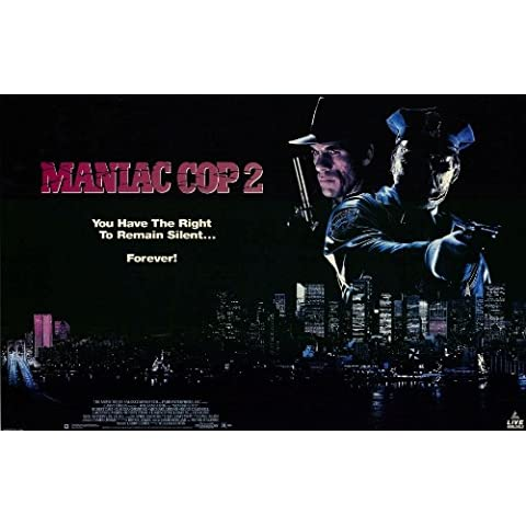 Cop Maniac 2 Poster In film 11 17 x 28 cm x 44 cm, motivo: Robert Davi Claudia Christian Michael Lerner Bruce Campbell Laurene Landon Robert