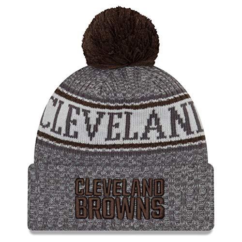 New Era NFL Cleveland Browns 2018 Sideline Graphite Sport Knit