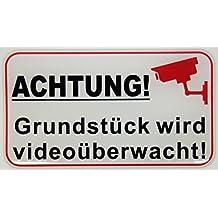 Schild 30 X 21cm Der Bereich wird videoüberwacht