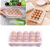 Ouneed® Eierbehälter , Single Layer Kühlschrank Lebensmittel 20 Eier luftdicht Lagerbehälter Kunststoff Box