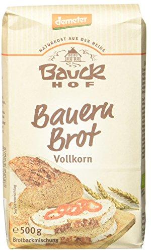 Bauckhof Bauernbrot, Vollkorn, 6er Pack  (6 x  500 g) - Bio