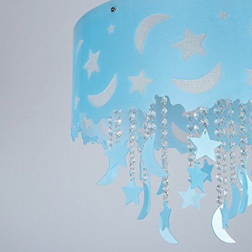 Blauer Mond und die Sterne der Kinder im Zimmer Kristall Decke Jungen und M?dchen Schlafzimmer Kronleuchter Beleuchtung leben LED-Lampen - 2