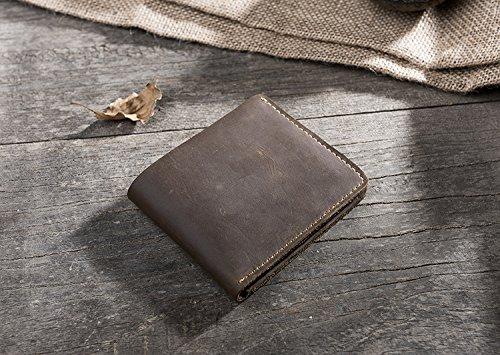 Retro Leder, Brieftasche, horizontale Tasche, Männer und Frauen Brieftasche, Kaffee Coffee
