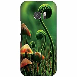 Printland Designer Hard Plastic Back Cover for HTC 10 -Multicolor