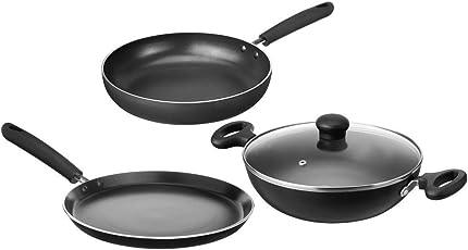 Amazon Brand - Solimo Non-Stick Kitchen Set, 3-Pieces