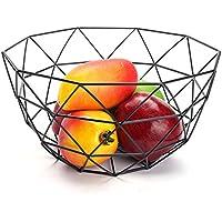 Frutero de Metal – Decorativa Cesta de Metal para Fruta y Verdura Northern Europe Innovative Iron Art Fruit Storage Basket Fruit Bowl Cestas de Almacenamiento Cesta de Fruta Hueco