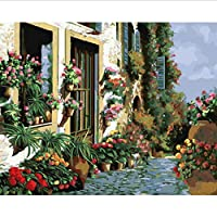 Frameless Painting by Numbers Paint by Number for Home Decor for Living Room 40 * 50Cm Flower On The Wall
