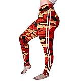 DressLksnf Leggings Taille Haute Camouflage Imprimé Rayure Pantalons Serré Élasticité Pants Yoga Fitness Trousers Tailles Grandes