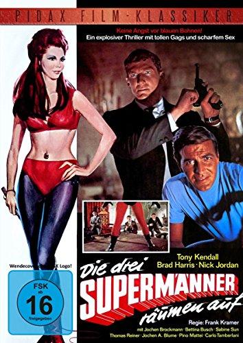 Bild von Die drei Supermänner räumen auf / Kultfilm mit den Kommissar X-Stars Brad Harris und Tony Kendall (Pidax Film-Klassiker)