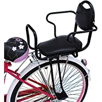 JT Fahrrad Kindersitz Zurück Kinder Student Baby Sicher Sitzen Verdickung Verbreiterung,Black,55X35CM