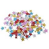 Baoblaze 200er Set Glitter Schaumstoff Aufkleber Zahlen Sterne Sticker Zum Basteln Kunsthandwerk - Stern