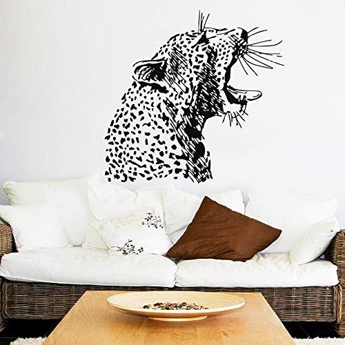 JXNY Wütend Cheetah Kopf Muster Kunst Wandbilder Home Wohnzimmer Spezielle Jungle Animals Serie Dekorative Vinyl Wandaufkleber 75X80 CM (Kleidung Cheetah Kinder Für)