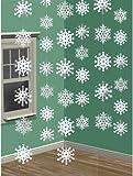 6 X Window Glitter Snowflake String Hanging Christmas Tree Decoration