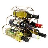 Maison & White Casier à vin en or rose | Étagère à vin sur pied avec 6 bouteilles...