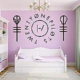 yiyiyaya Drôle Vingt et Un Pilotes Wall Sticker Home Decor décoration Chambre...
