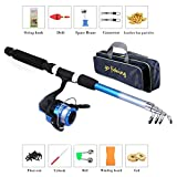 supertop Anfänger Kinder Angelrute Set Tragbare Retractable Angelrute Sea Fishing Tackle Kit für...
