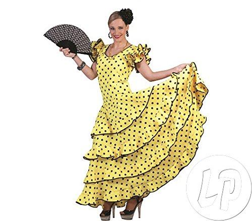 Flamenco Kleid zum Samba Kostüm für Damen Gr. 32 34