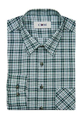 Michaelax-Fashion-Trade -  Camicia classiche  - A quadri - Classico  - Maniche lunghe  - Uomo verde (300)
