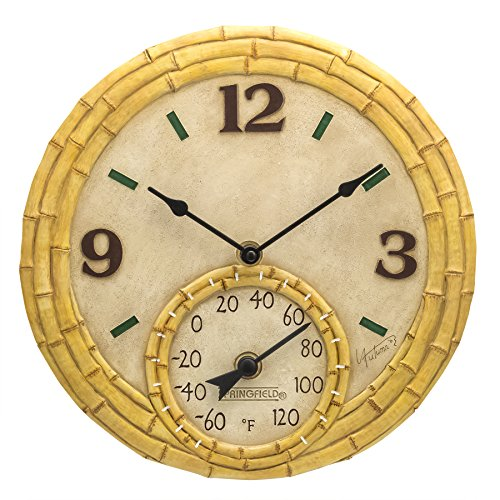 Springfield Flip Flops Uhr, Kunstharz, 30,5 cm Bambus hautfarben