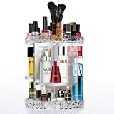 Rotating Makeup Organiser, Acrylic Cosmetic Display Case, Adjustable 360° Clear Make Up Storage Box, Large DIY Combinable Display Stand for Cosmetics, Jewelry, Toiletries