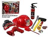 LGVSHOPPING Set Pompiere Deluxe 10 Pz Vigili del Fuoco Pompieri Giocattoli Cappello Bussola e Accessori