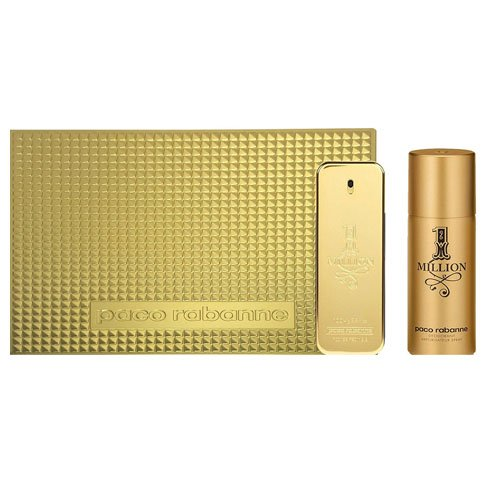 Paco Rabanne 475-29896 1 Million - Eau de Toilette 100 ml + Deodorante Spray 150 ml, Uomo