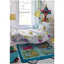 Designers Guild Kids.- Conjunto de funda nordica Circus Parade, cama de 90 (Funda nordica 150x220 + funda de almohada 45x110)