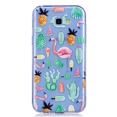 Funda Samsung Galaxy A5 2017 SM-A520 Silicona Transparente,QFUN Suave