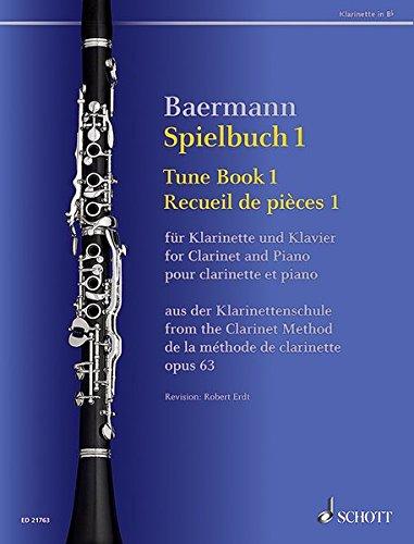 Spielbuch 1: Votragsstücke aus der Klarinettenschule. Band 1. op. 63. Klarinette in B und Klavier. Spielbuch. (Baermann - Klarinettenschule)